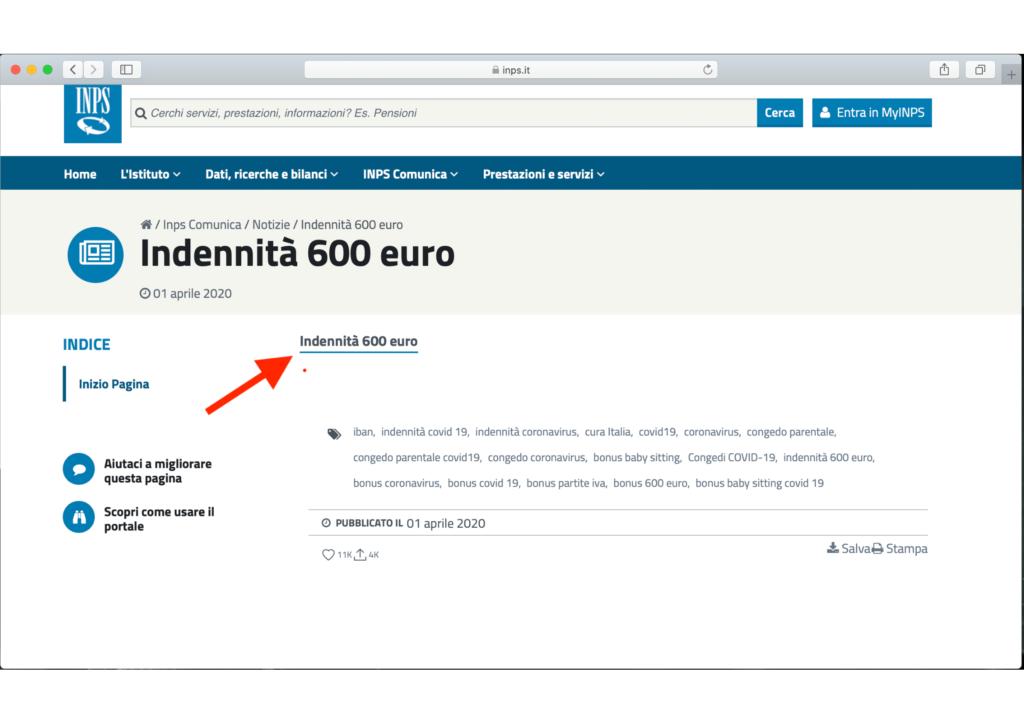 come accedere inps bonus 600 euro lavoratori spettacolo